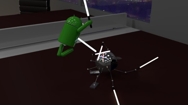 android robot apple 3D