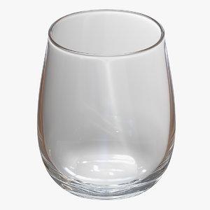 3D whisky glass