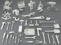 tools - 40 pieces 3D