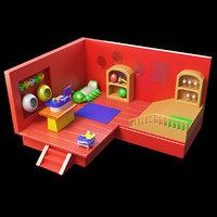 house cartoon model