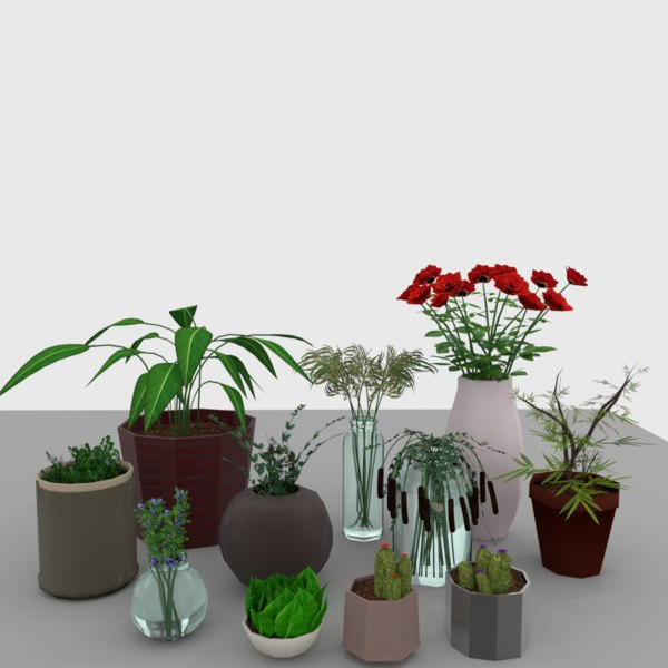 set plants design 3D model