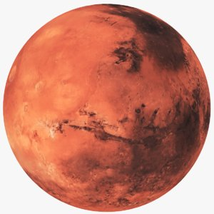 real earth mars 3D model