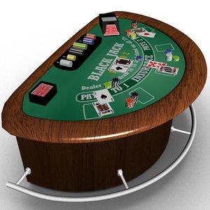 blackjack table model