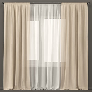 tulle curtains 3D model