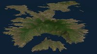3D rinca island indonesia model