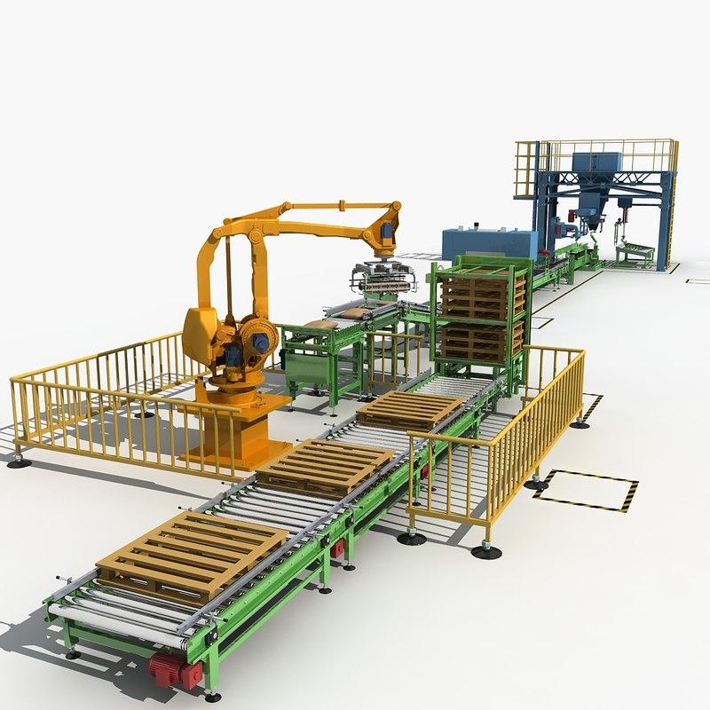 3D packaging machine line