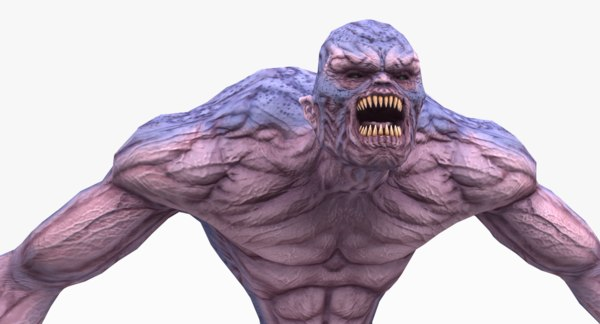monster character 3D model
