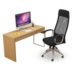 markus office chair desk 3D