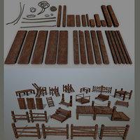rope wood 3D model