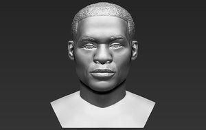 russel westbrook bust ready 3D model