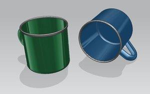 camping mug cup model