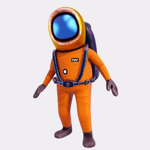 cartoon astronaut animations 3D