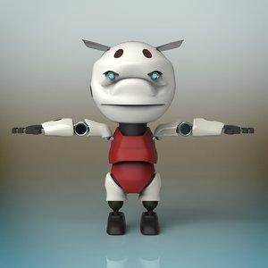 3D baby robot model