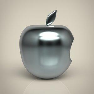 silver apple 3D