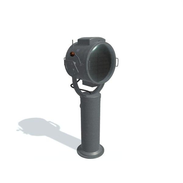 ship searchlight mspl-45 2-m 3D model