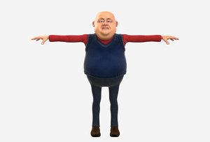 3D man director model
