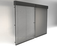 3D external venetian blinds window