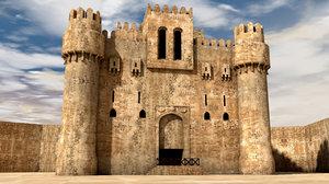 3D model qaitbay castle