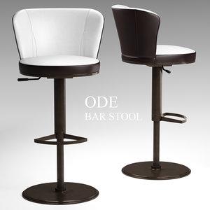 3D ode bar stool - model