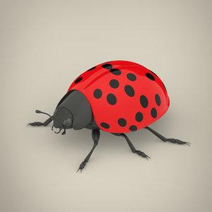 3D ladybird modeled