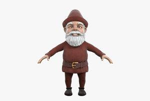 3D gnome hat buckle