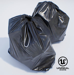 3D garbage bag pbr ready