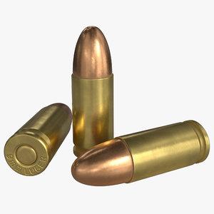 3D model 9x19mm parabellum 9mm