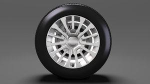 toyota proace van wheel 3D model