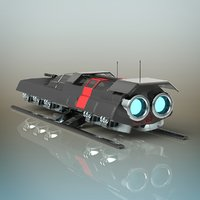3D battle shuttle model