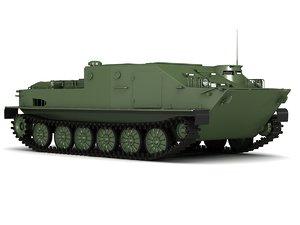 3D soviet btr-50 model