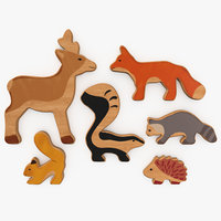Wooden Toy Cute Animals