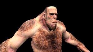 character giant monster 3D model