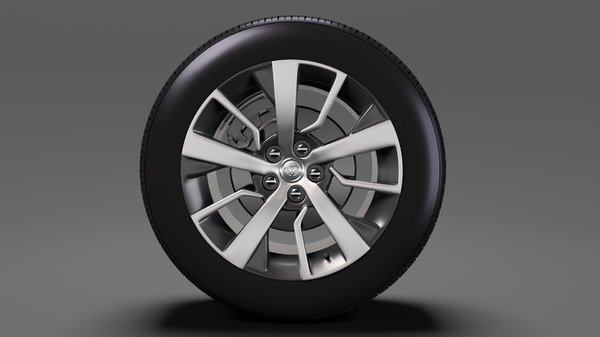 3D toyota proace verso wheel model