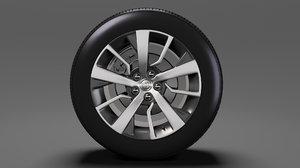 3D toyota proace verso wheel model