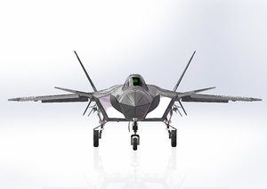 3D model chengdu j-20 stealth aircraft