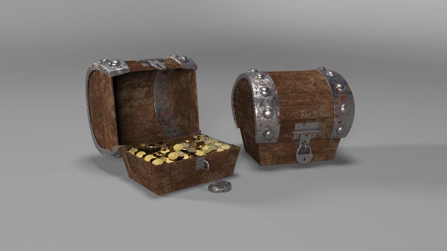 treasure chest 3D