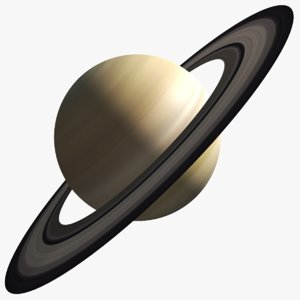 real saturn planet 3D model