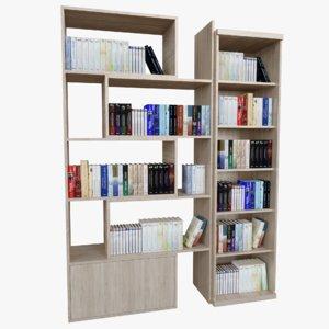 book shelfs 3D model