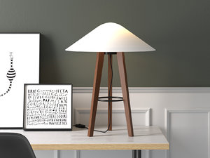 3D melusine table lamp model