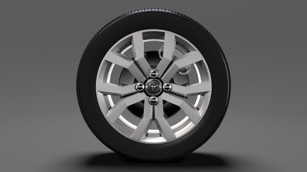 3D toyota tank wheel 2017