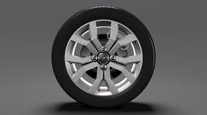 3D toyota tank wheel 2017