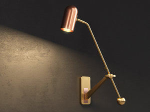 stasis wall light 3D model