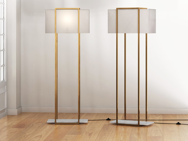 3D dauphine floor lamp model