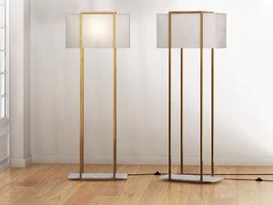 3D dauphine floor lamp model