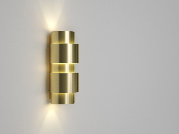 3D model ring wall lamp