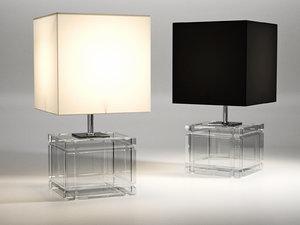academia table lamp 3D model