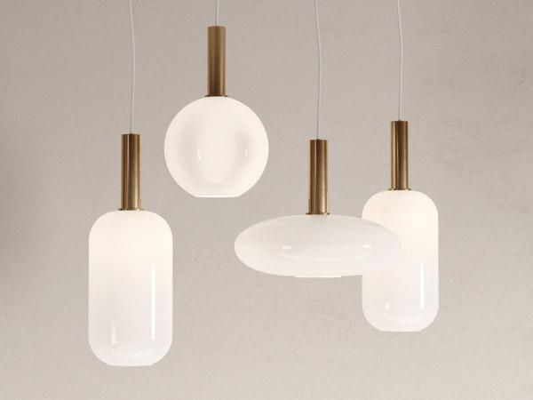 3D model opal lampshades