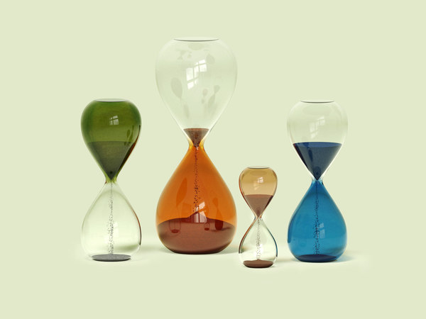 3D time hourglasses