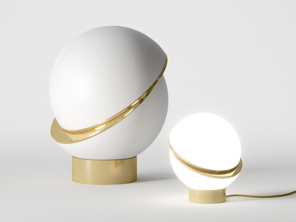 crescent table lamp 3D model