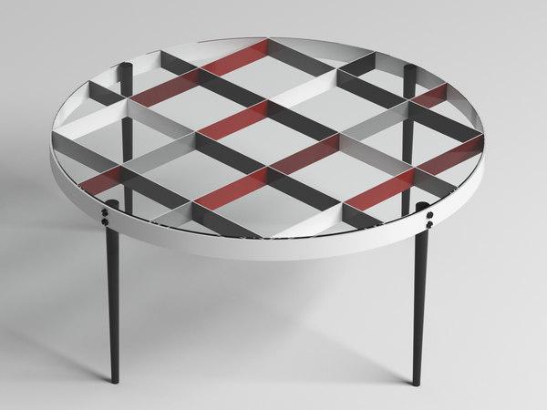 small table d 555 3D model